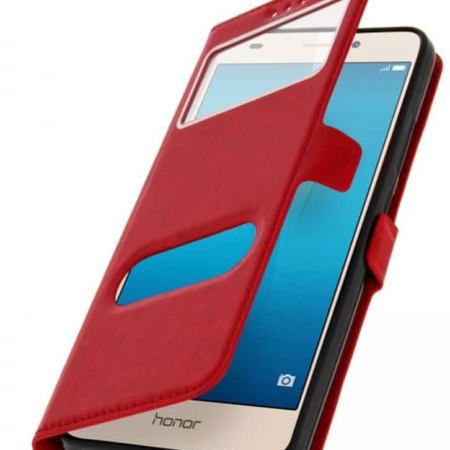 Coque Etui Décrochage Appel Honor 5C - Rouge