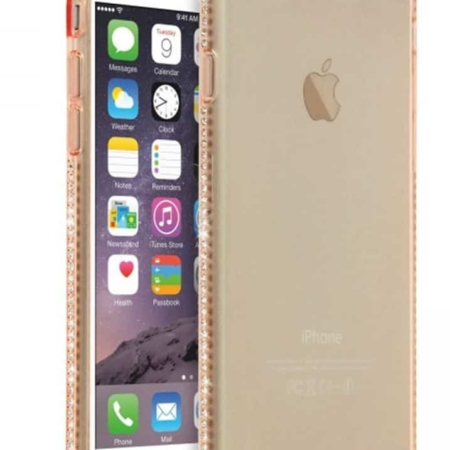Coque souple iPhone 6/6S Contour Chromé doré