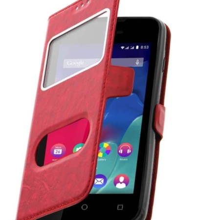 Etui Décrochage Appel WIKO SUNNY,SUNSET 2-Rouge