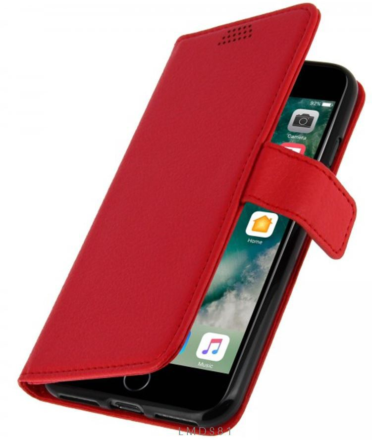 Coque Etui Housse Portefeuille iPhone 7 -Rouge - Ipomcase f85fa271610