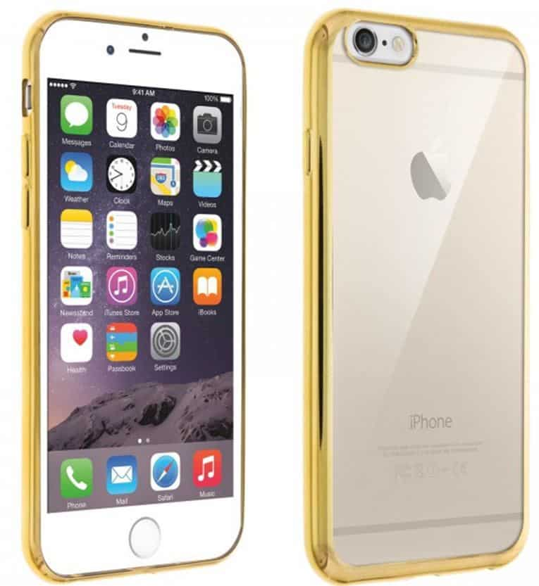 Coque iPhone 6, iPhone 6S Contour doré - Or