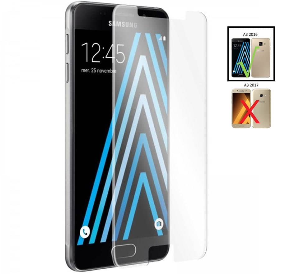 Protection écran Verre trempé Samsung Galaxy A3 2016