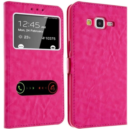 Etui Décrochage AppelSAMSUNG GALAXY GRAND PRIME -Rose