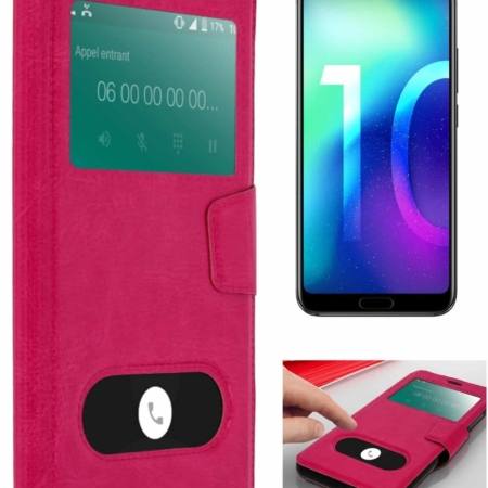 Coque Etui Décrochage Appel HONOR 10 -Rose
