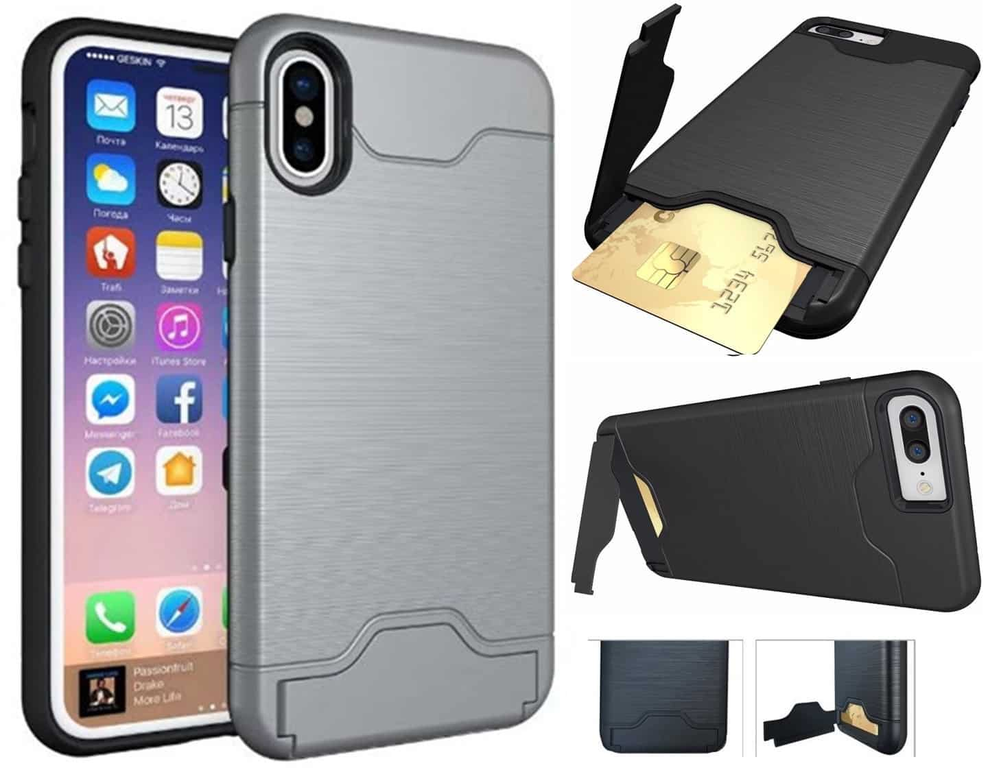 Coque Anti Chocs Porte Carte iPhone X,iPhone 10